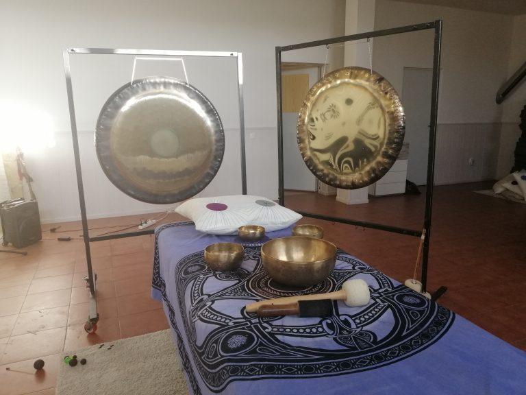 Sesiones con cuencos y gong